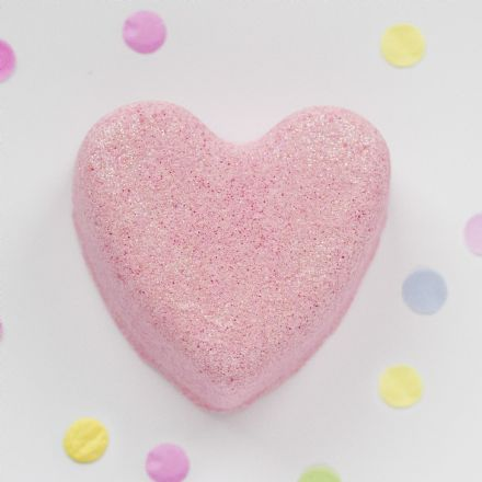 Raspberry Heart Bath Fizzy